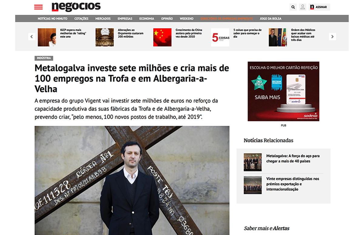 Metalogalva investe sete milhões e cria mais de 100 empregos na Trofa e em Albergaria-a-Velha – Jornal de Negócios