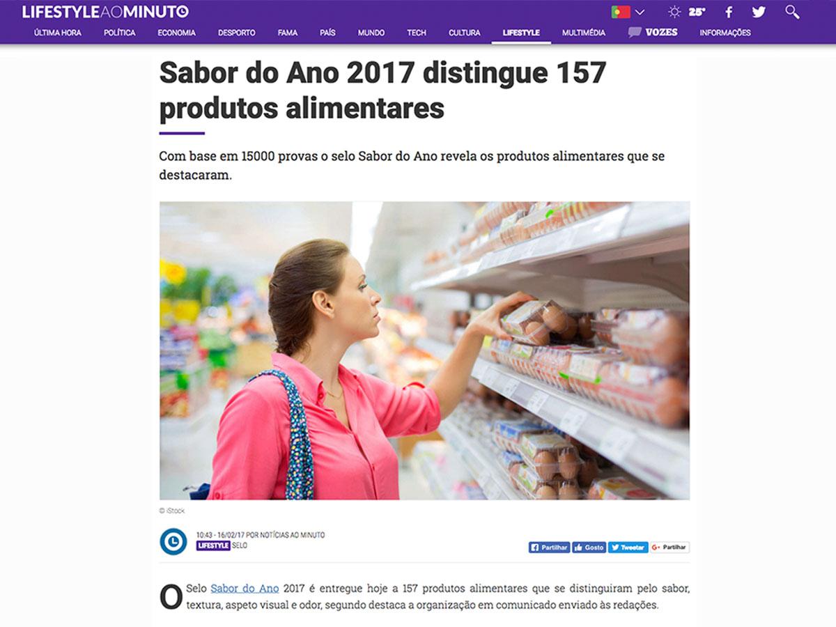 Sabor do Ano 2017 distingue 157 produtos alimentares – Notícias ao Minuto