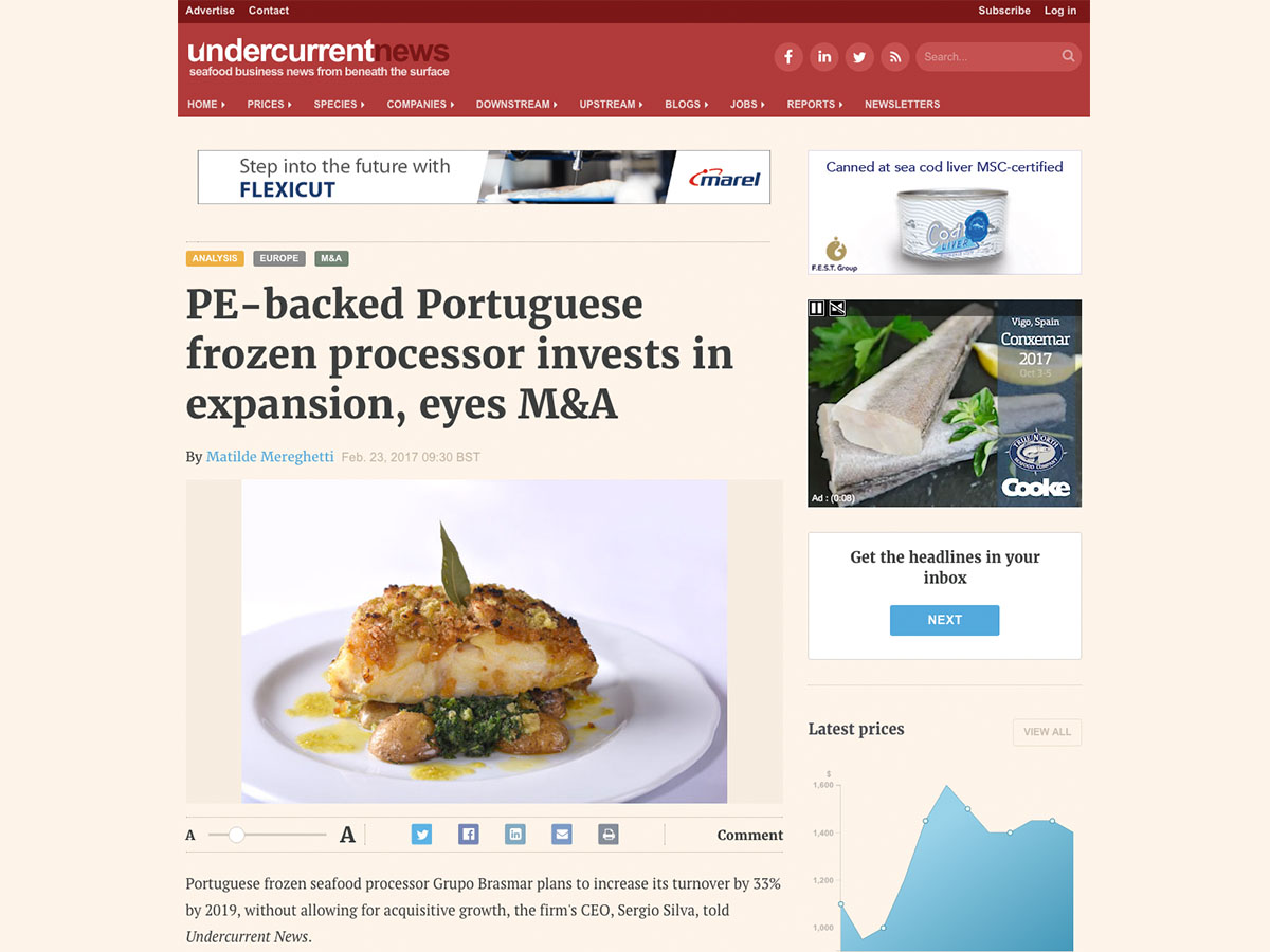 PE-backed Portuguese frozen processor invests in expansion, eyes M&A – Undercurrentnews