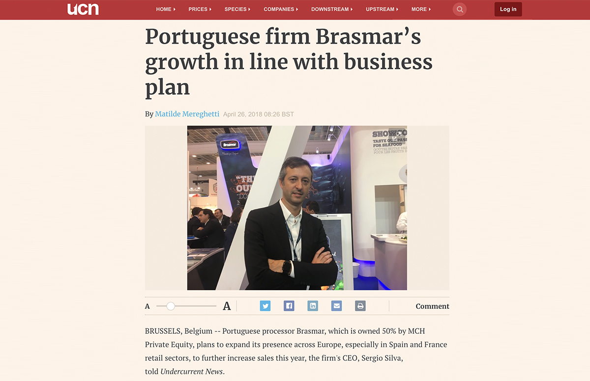 Portuguese firm Brasmar's growth in line with business plan